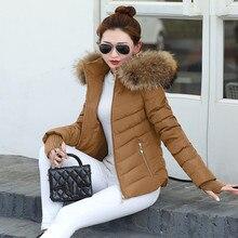 Новинка, зимнее пальто, женская зимняя куртка, женские парки, перчатки, теплый съемный меховой воротник, съемная шапка, облегающая верхняя одежда