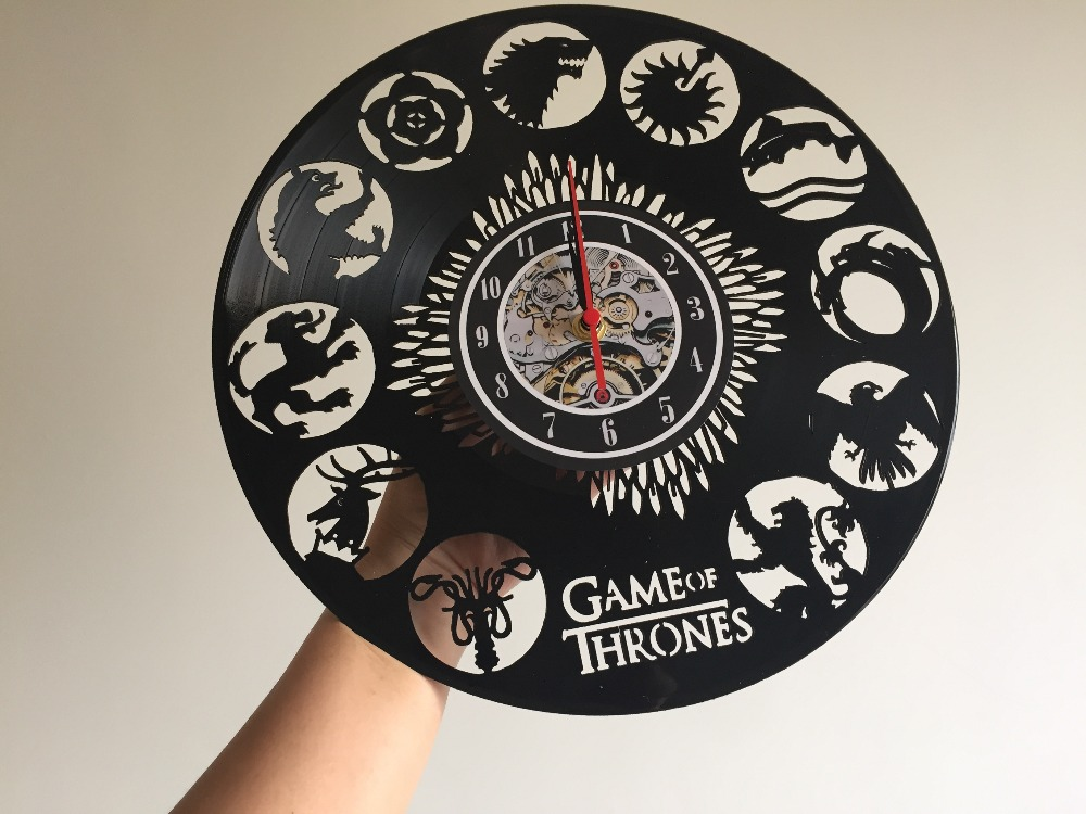 wall clock Game of Thrones Theme Vinyl Unique wall clock by Gullei