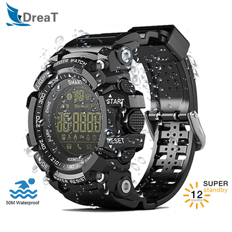 EX16 Smart Watch 5ATM Waterproof IP67 Bluetooth Android Men Pedometer Sport Swimming Diving Watch 12 Months Long Time Standby-in Smart Watches from Consumer Electronics on AliExpress