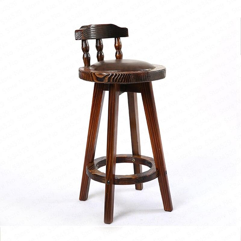 Table et chaise de Bar américain combinaison rétro tabouret haut Table combinaison café Table en bois massif loisirs tabouret de Bar