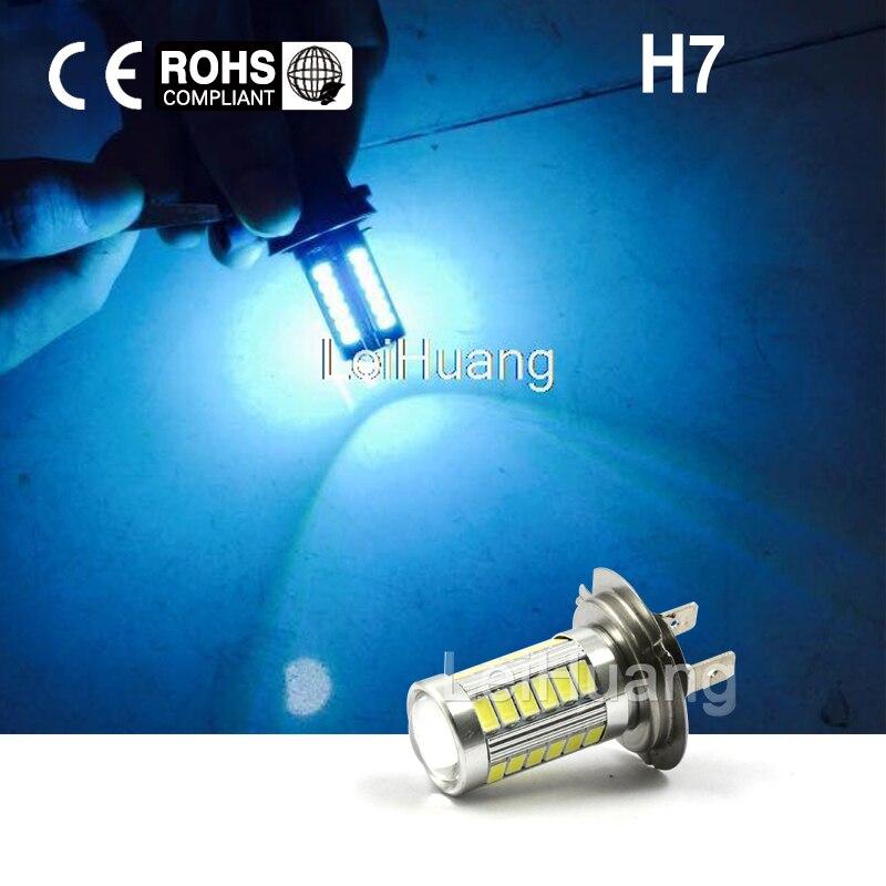 2pcs H7 High Power LED Light Fog Light Headlight Driving DRL Car Light Auto Lamp Bulb ice Blue