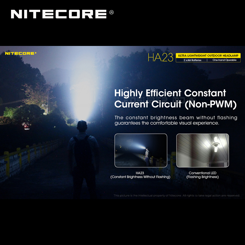 Ultra Compact NITECORE HA23 AA Outdoor Headlamp with the Most Accessible Power Source