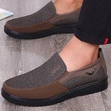 Plus size 38-50 Mens Canvas Shoes Slip On Wear-resistant Vulcanized Man Solid Rubber For Men Shallow