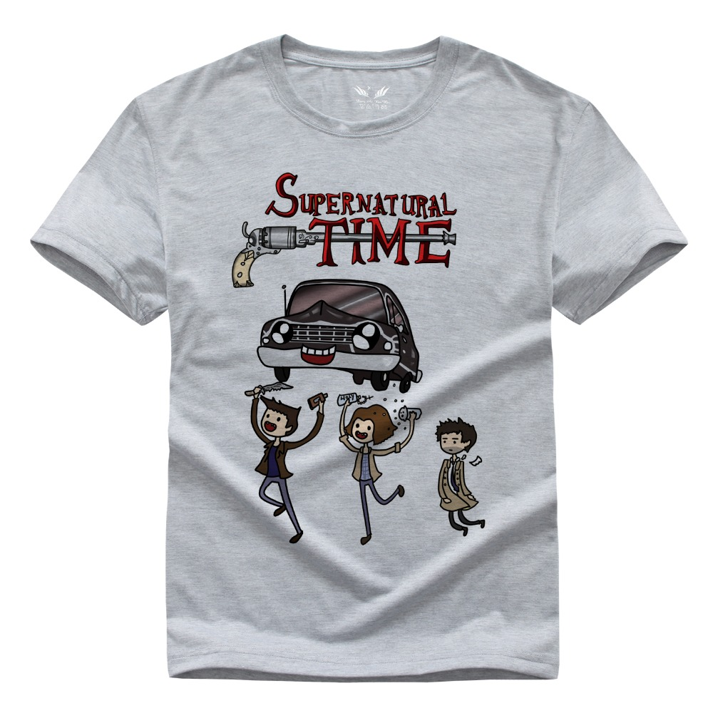 Evil Force Supernatural T Shirt Menu0026#39;s Short Sleeve DIY Tee Tops Sam And Dean Winchester Brother ...