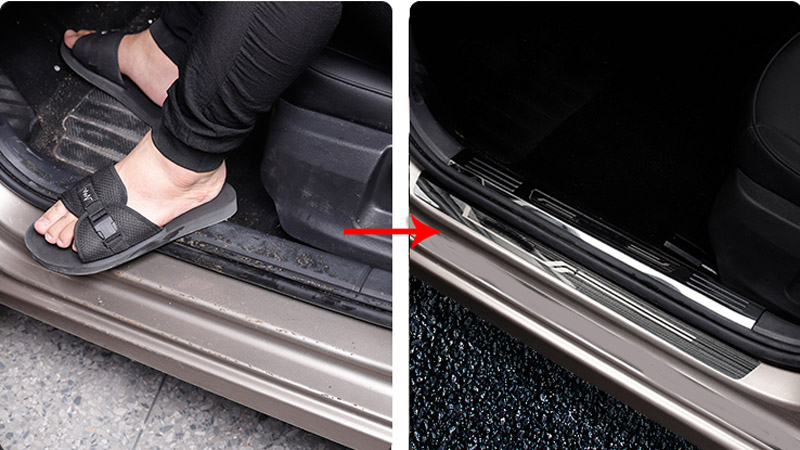 for Skoda Octavia 2015 2018 Octavia wagon 2017 2018 Stainless steel Threshold bar Welcome pedal decorate protect in Interior Mouldings from Automobiles Motorcycles