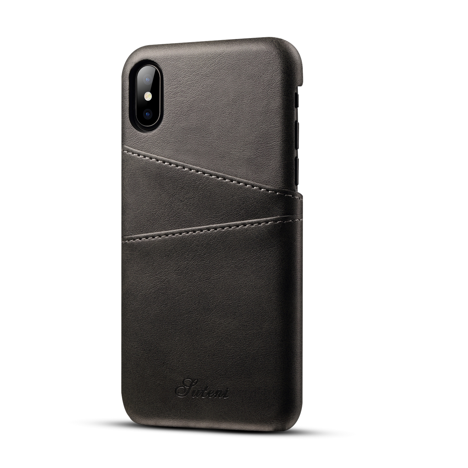 Cow Leather Iphone X Case Xr Xs Max Wallet Card Holder Back Covers Thin For Iphone 7 8 Plus Fundas