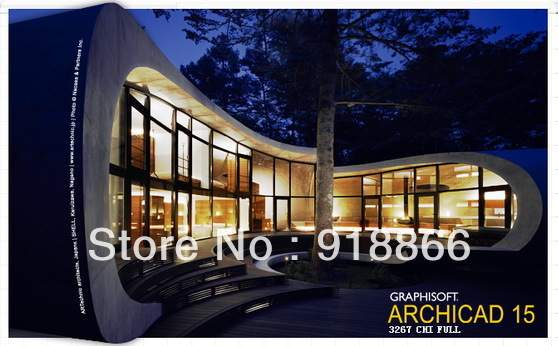US $35 04 |3D architectural design ArchiCAD 15 3602 Chinese / English 32  +64 bit version of the full featured في 3D architectural design ArchiCAD 15