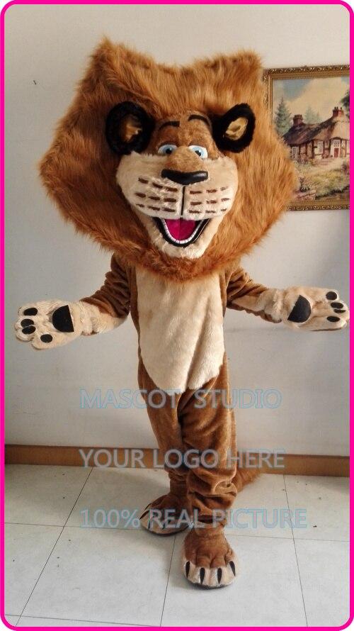 Bande dessinée de mascotte lion alex costume de fantaisie personnalisée costume anime cosplay kit mascotte thème déguisements carnaval costume