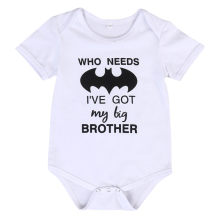 Letter Printing Baby Boys Summer Rompers Short Sleeve Toddler Baby Boy Batman Summer Jumpsuit Clothes Outfits(China)