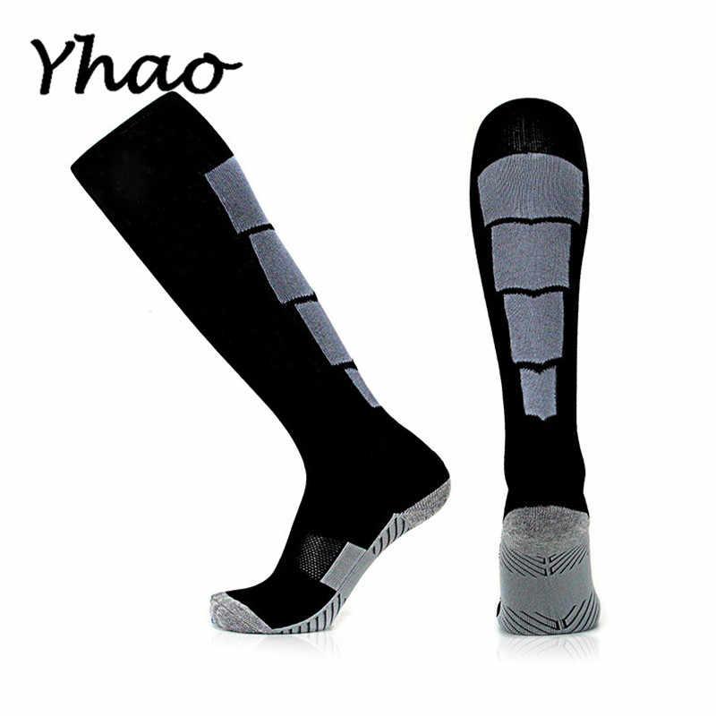 Yhao, профессиональные, сильный, спортивные, футбольные носки для взрослых, противоскользящие, с махровой подошвой, дышащие, для езды, носки для пеших прогулок, бега