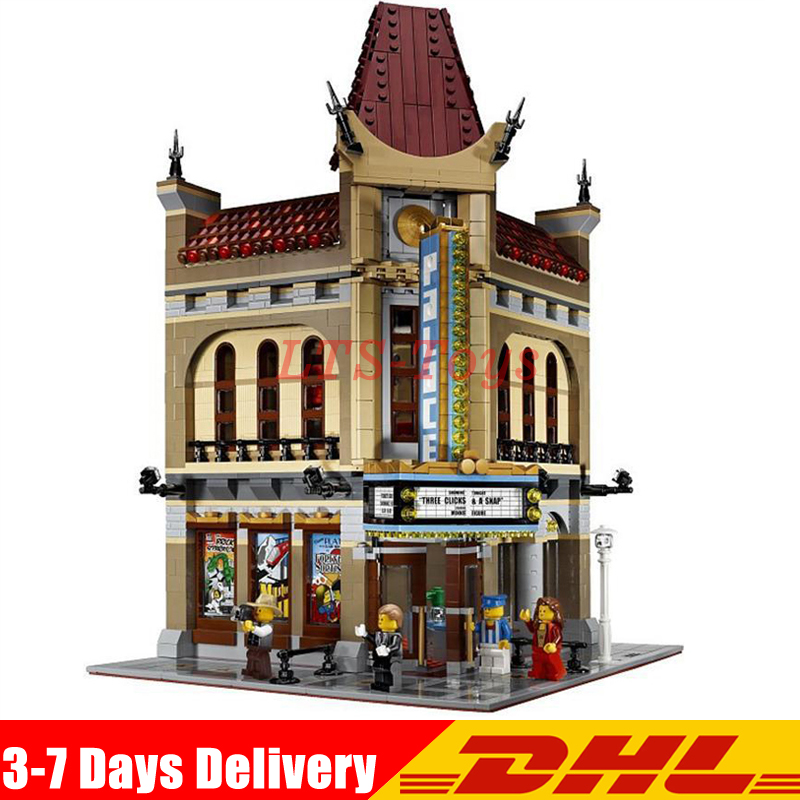 IN Stock DHL LEPIN 15006 2354pcs City Street Palace Cinema Model Building Blocks Set Bricks Toys Compatible Legoing 10232 Toys city street series 15006 2354pcs palace cinema building blocks creator compatible legoing 10232 bricks toys gifts for children