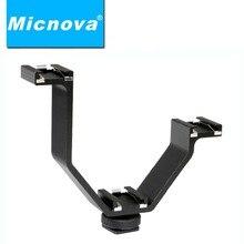 Micnova tripartite mq-thm02 coldshoe adaptador de montagem para canon nikon olympus dslr câmeras