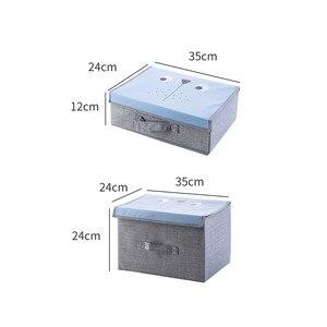 Image 4 - Compartimiento de armario de dibujos animados para el hogar, cajas de juguetes para el hogar, caja plegable de tela, compartimento de almacenamiento para tienda de ropa