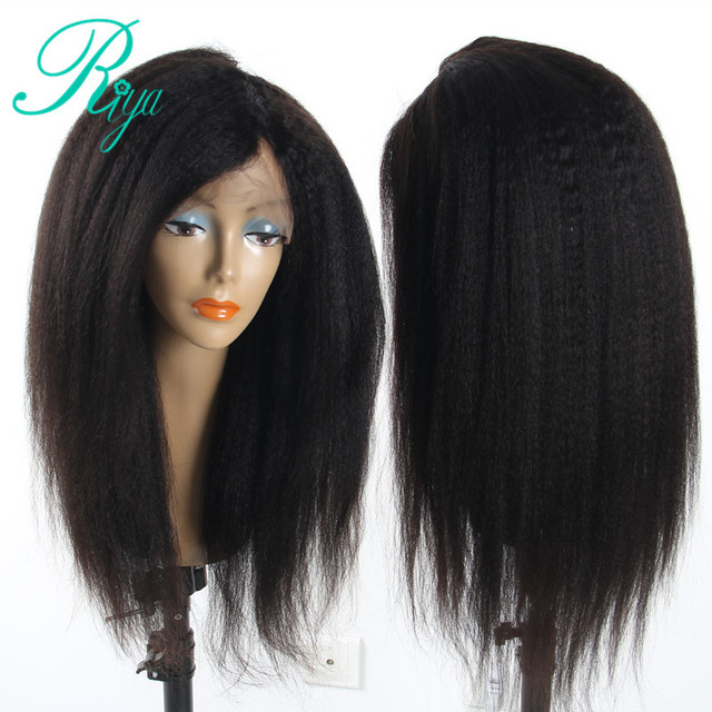 Riya Hair Brazilian Lace Front Human Hair Wig For Black Women Remy Human  Hair Kinky Straight Wigs With Baby Hair Headline 6f6d495da