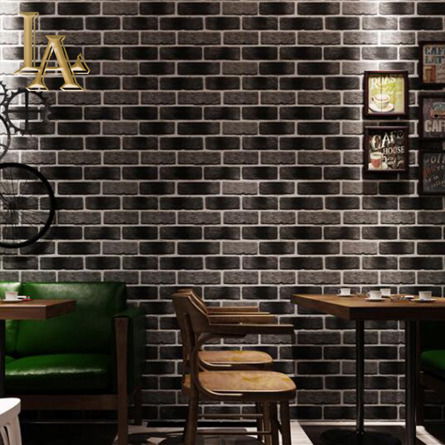 Vintage Stone Brick Wallpaper For Walls Roll 3D PVC Waterproof Wallpapers For Living Room Restaurant Desktop Papel De Parede 3D beibehang rustic brick stone wallpaper for living room chinese brick pvc wallpaper roll papel de parede 3d roll home decoration