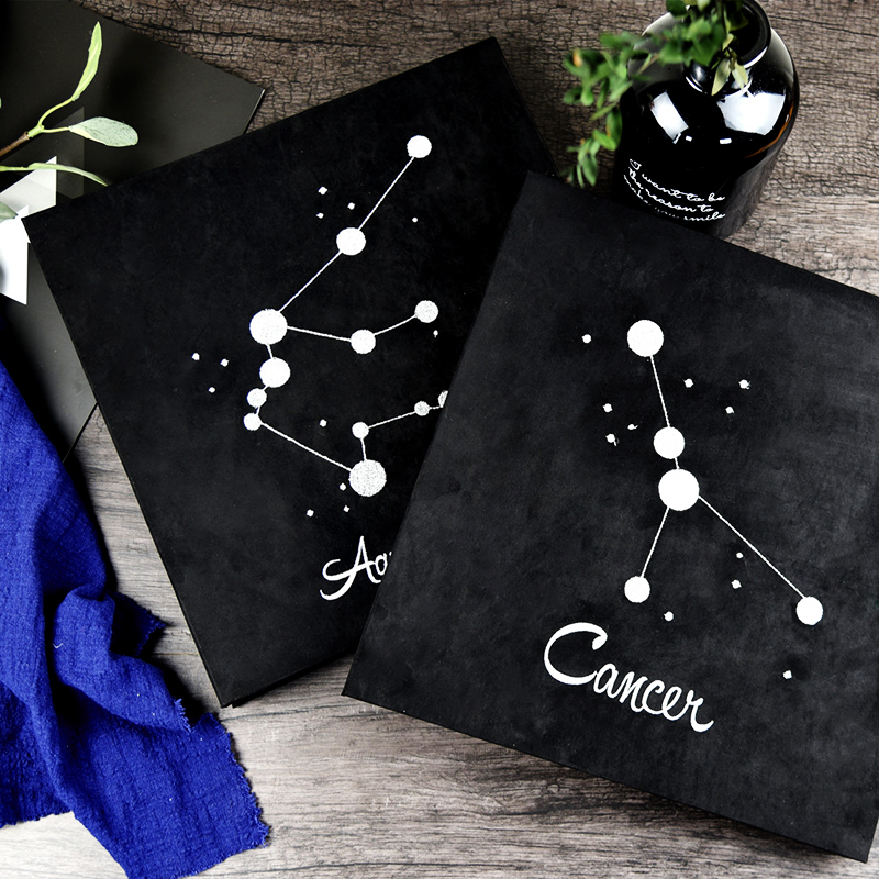 2018 New Embroidery Twelve Constellation Album Diy Handmade Creative Couple Romantic Paste Boyfriend Birthday Gift