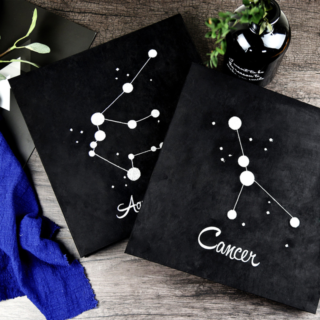 2018 New Embroidery Twelve Constellation Album Diy Handmade Creative Couple Romantic Paste Boyfriend Birthday Gift
