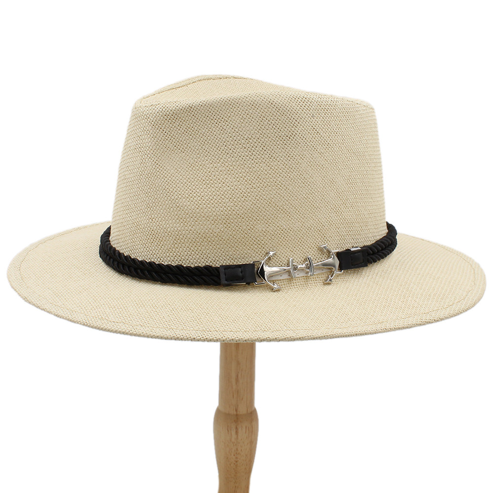 Women Lovely Summer Sun Hat For Women Men Straw Panama Hat Wide Brim Handmade Weave Fedora Sunhat Size 56-58cm Suitable For Men And Children