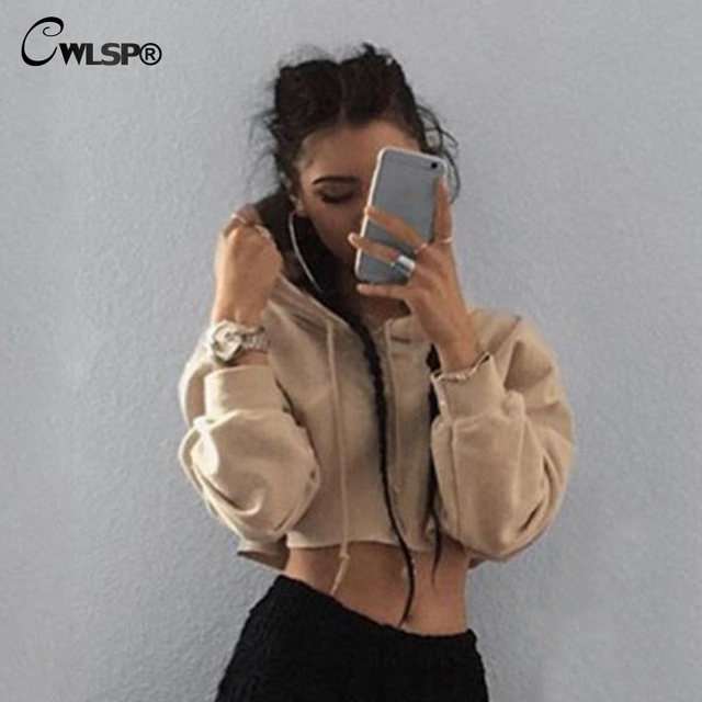 Autumn Winter Sweatshirt Women Hoodies harajuku Crop Top Fashion Trend kpop Long Sleeve tracksuit sudaderas mujer 2016 QA1466