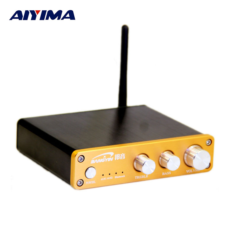 AIYIMA Amplifiers Audio Board TPA3116D2 Amplificador Fever CSR4.0 Bluetooth Mini Digital 2.0 Amplifier Hifi Computer Desktop Amp freeshipping ne5532 op amp grade fever before the hifi amplifier board