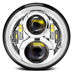 Image 5 - For Hummer H1 H2 Led Headlight 60w 7 Inch LED Headlights High Low Beam Angel Eye DRL Amber Turn Signal for Jeep Wrangler JK Lamp
