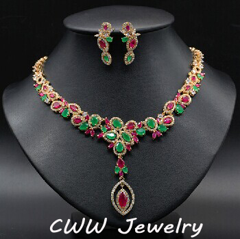 Cwwzircons luxury cz necklace and earrings wedding party cwwzircons luxury cz necklace and earrings wedding party accessories bridal jewelry sets for brides wedding dress junglespirit Image collections