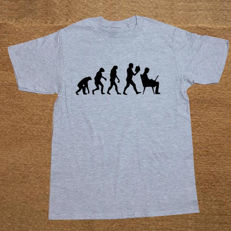 42824446 Evolution Computer Custom Funny T Shirt Tshirt Men Cotton Short ...
