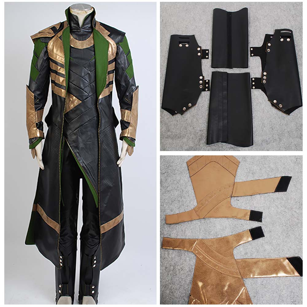 Thor 3 Costume The Dark World Loki Costume Cosplay Battle Uniform Outfit Suit Attire
