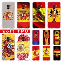 3D Spain Spanish flag Case For Samsung Galaxy A8 A6 Plus A9 A5 A3 A7 2018 2017 2016 A50 A30 A40 A70 A10 A2 CORE Soft(China)