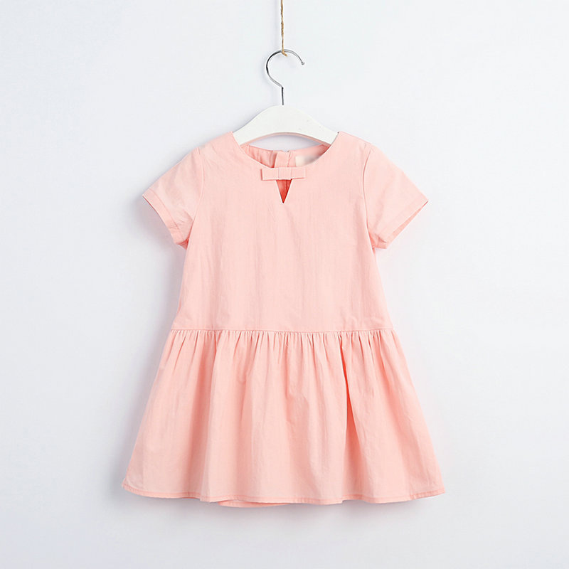 2019 Summer Girls Dress Butterfly Knot Children s Clothes Wholesale