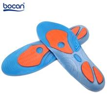 Bocan Gel inlegzolen schokabsorptie zachte comfortabele sport inlegzolen voor mannen en vrouwen voetpijn & plantaire fasciitis opluchting, blauw