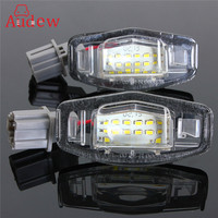 2Pcs 18 LED License Plate Lights Number Plate Lamp For Honda Accord Odyssey Acura TSX Civic
