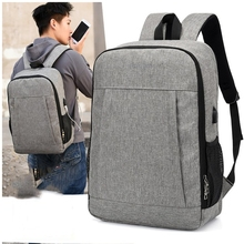 men canvas backpack mens 15.6 inch laptop usb charging school for teenagers bags