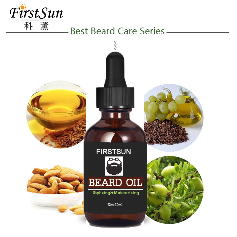 2pcs Firstsun 100% Natural Organic Essence Beard Oil EnhancerFacial Nutrition Beard Growth