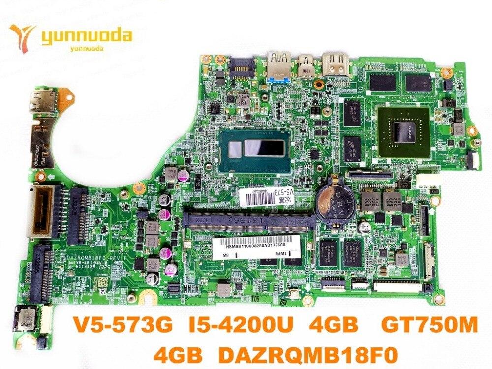 original for font b ACER b font V5 573G laptop motherboard V5 573G I5 4200U 4GB