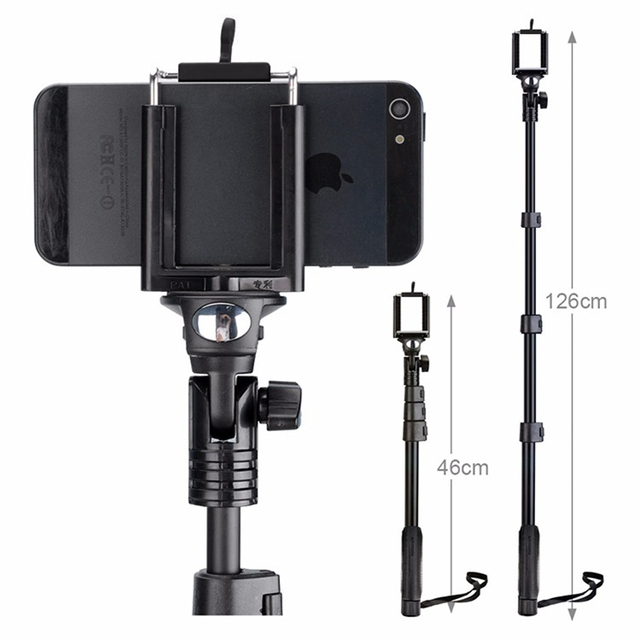 2018 new arrive Yunteng 188 tripod monopod for camera and phone monopod for gopro Good quality Give Bluetooth remote control
