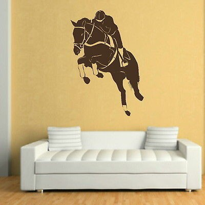 wall stickers diy equestrian riding wall decals murals sports stickers for boys bedroom vinyl removable horse