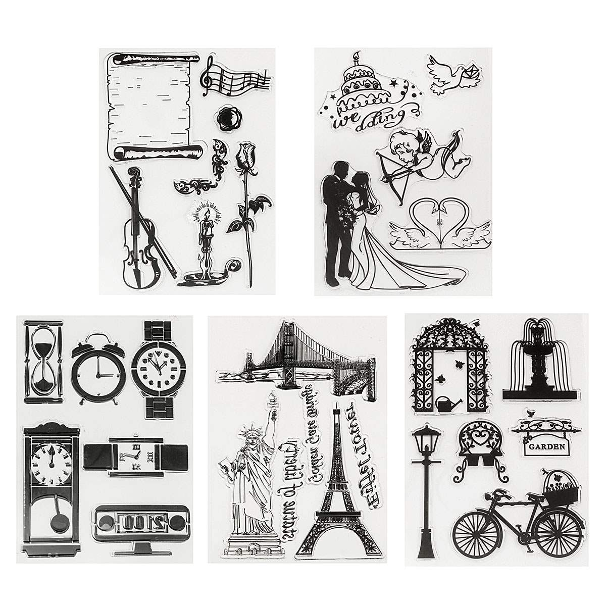 Rubber stamps arts and crafts - Silicone Transparent Rubber Stamp Cling Sheet Set Scrapbooking Card Diy Handmade Paper Crafts Decorative Gadgets Craftwork