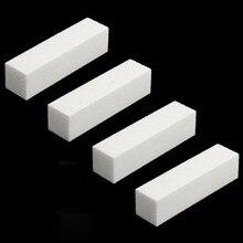 Rosalind 4 шт./лот шлифовальная губка пилка для ногтей буферный блок для УФ-гель для ногтей DIY Дизайн ногтей маникюр педикюр белый полировщик для ногтей