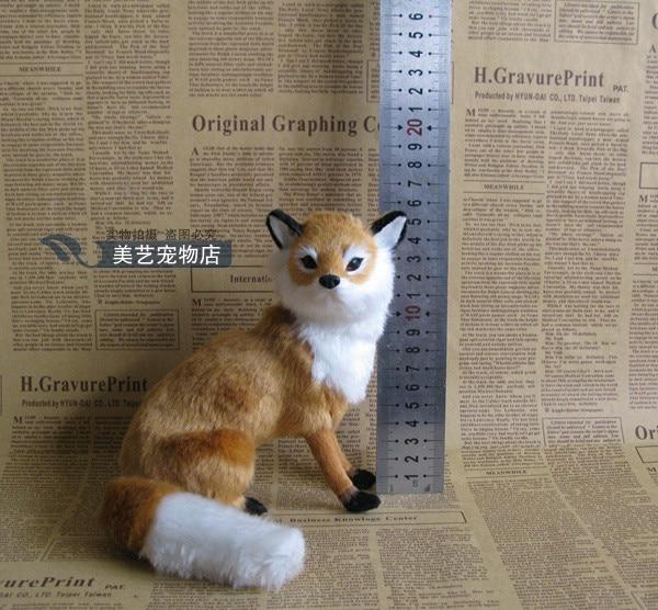 simulation brown fox model,polyethylene&fur 14x10x16cm squatting fox handicraft toy prop,home decoration Xmas gift b3786 футболка toy machine leopard brown