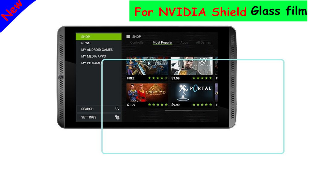 9H 0.33mm 2.5D Premium Clear Tempered Glass Screen Protector For NVIDIA Shield Tablet 8