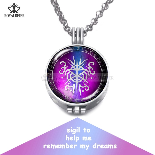 Silver pendant sigil for dreams perfume aroma pendant necklace with silver pendant sigil for dreams perfume aroma pendant necklace with foam 25mm glass charm link chain aloadofball Images