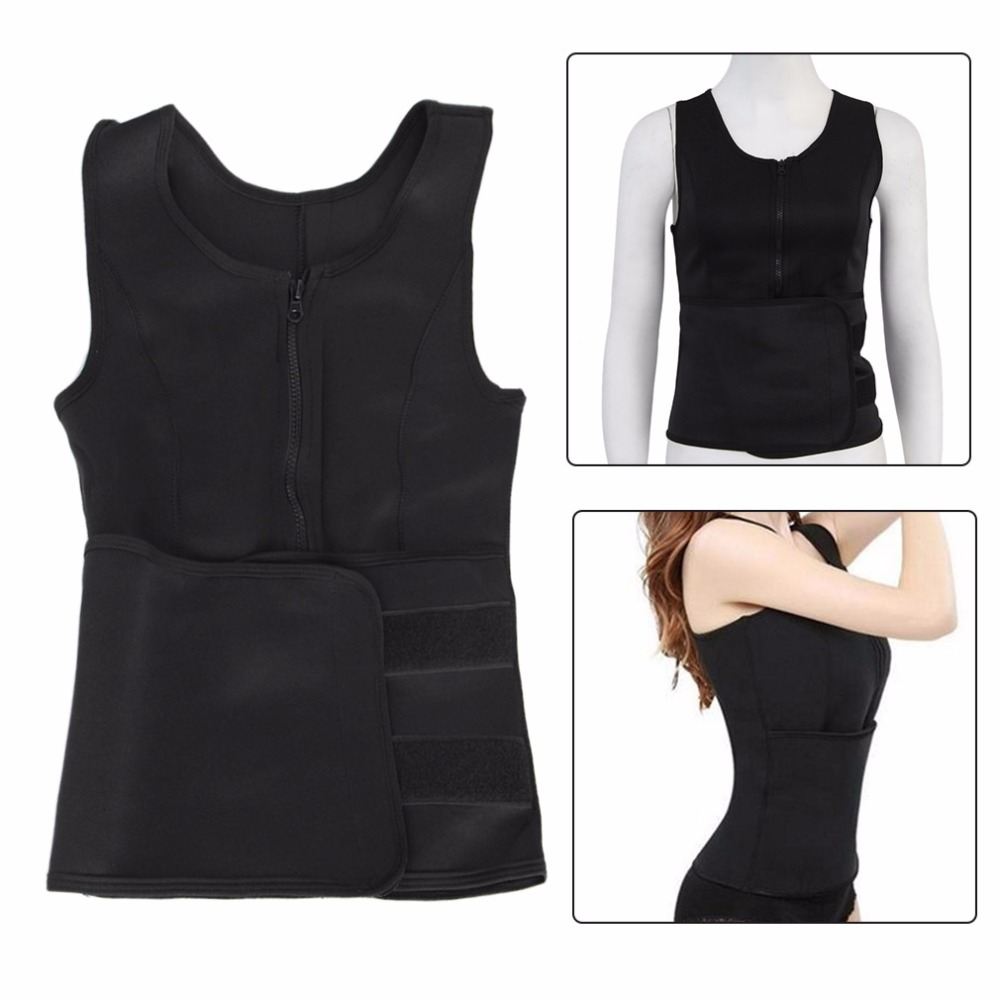 Breathable Women Fashion Sport Fitness Vest Waistband Belt Sexy Slim Body Exercise Waist Burning Fat Clothes Support Yoga cashmere wool body waist warmer support waistband black