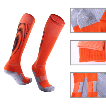 Professional Winter Sports Skiing Socks Men Women Thermal Ski Long Sock Outdoor MTB Cycling Running Football Stockings Black Red 1