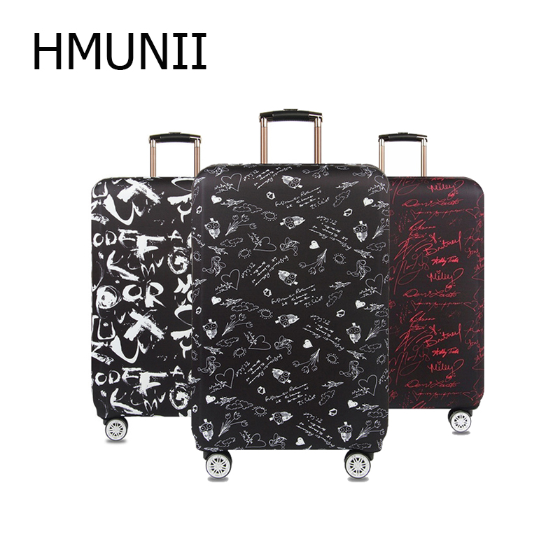 HMUNII Letters Signature Luggage Cover Thick Travel Case Cover Protector Luggage Case For 18''-32''Suitcase Travel Accessories