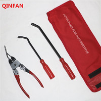 QINFAN 3pcs Steel And Nylon Promotion Car Door Panel Remover Upholstery Removal Clip Trim Auto Fastener