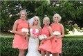 2017 Cheap Coral Lace Bridesmaid Dresses Short Wedding Party Gowns Chiffon Skirt Junior Bridesmaid Dress Vestido de Festa Curto