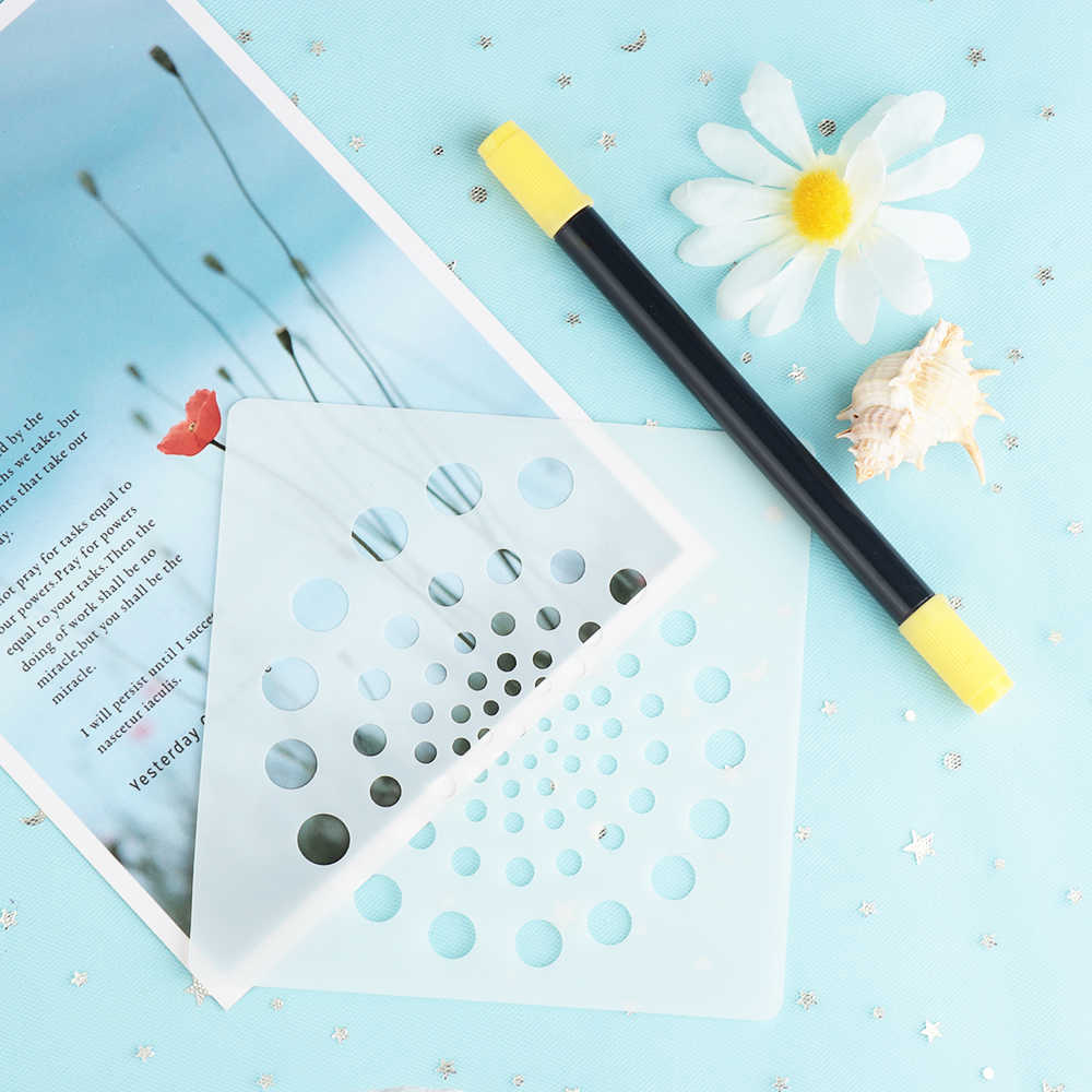 דוט צורת המנדלה עזר שכבות שבלונות עבור קירות ציור רעיונות חותמת אלבום דקור הבלטות נייר כרטיס תבנית