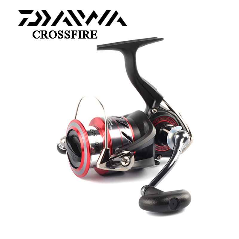 DAIWA fishing reel upgrade CROSSFIRE Aluminum Spool 2000/2500/3000/4000 with Light body 4 Stainless steel bearings катушка daiwa crossfire 2000 reel 10117 200ru