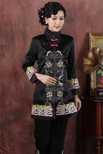 Traditional Chinese Clothing High-grade Boutique Women's silk embroidery Tops Size M-4XL